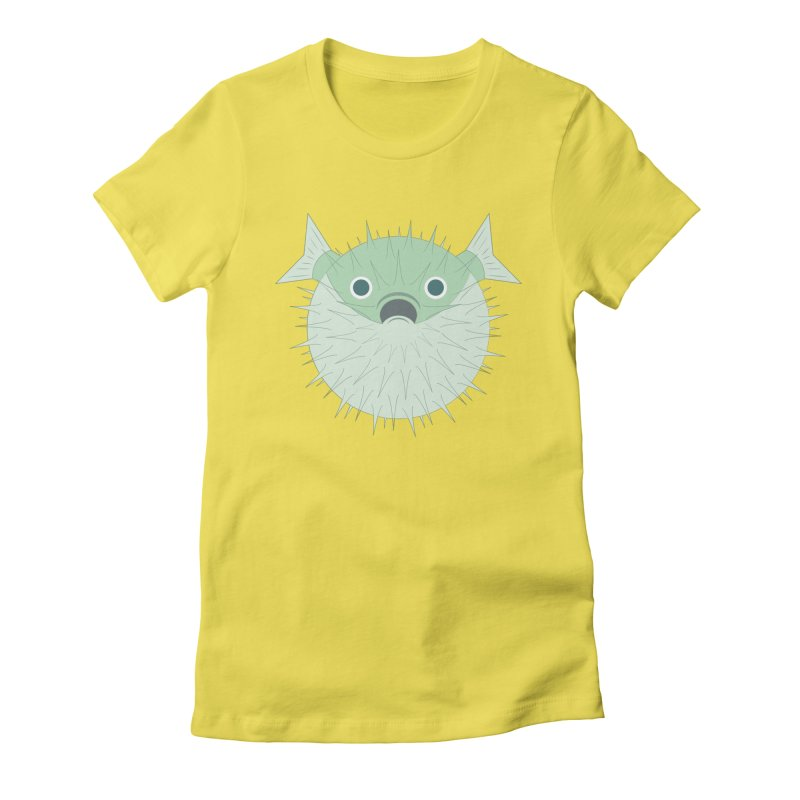 Shock Cousteau's Blowfish Women's Fitted T-Shirt by Runderella's Artist Shop