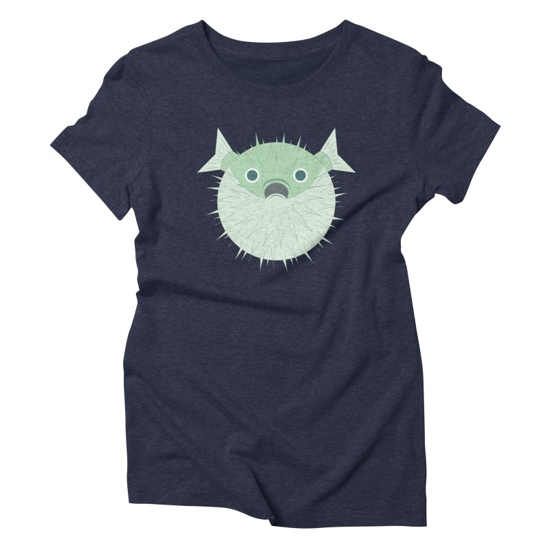 Shock Cousteau's Blowfish Women's Triblend T-Shirt by Runderella's Artist Shop