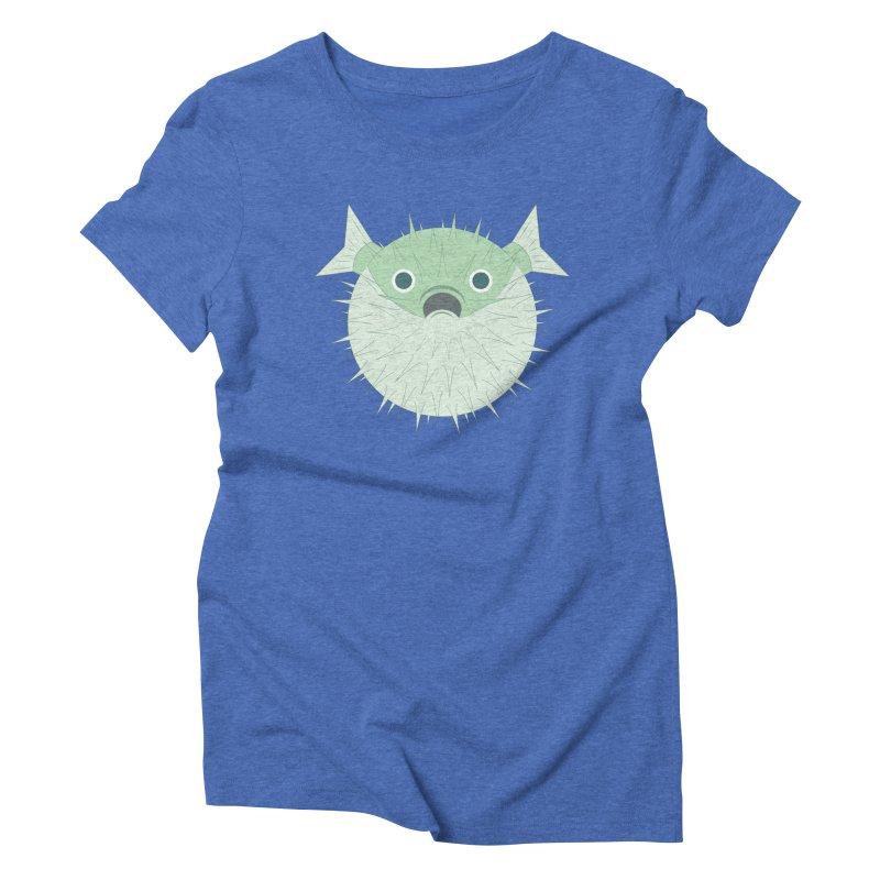 Shock Cousteau's Blowfish Women's Triblend T-Shirt by Runderella's Artist Shop