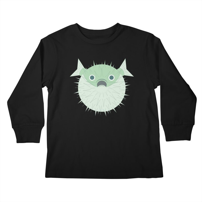 Shock Cousteau's Blowfish Kids Longsleeve T-Shirt by Runderella's Artist Shop