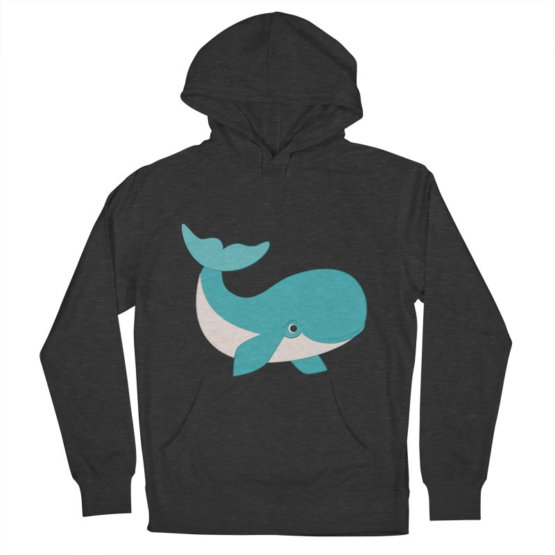 Shock Cousteau's Whale  Women's French Terry Pullover Hoody by Runderella's Artist Shop