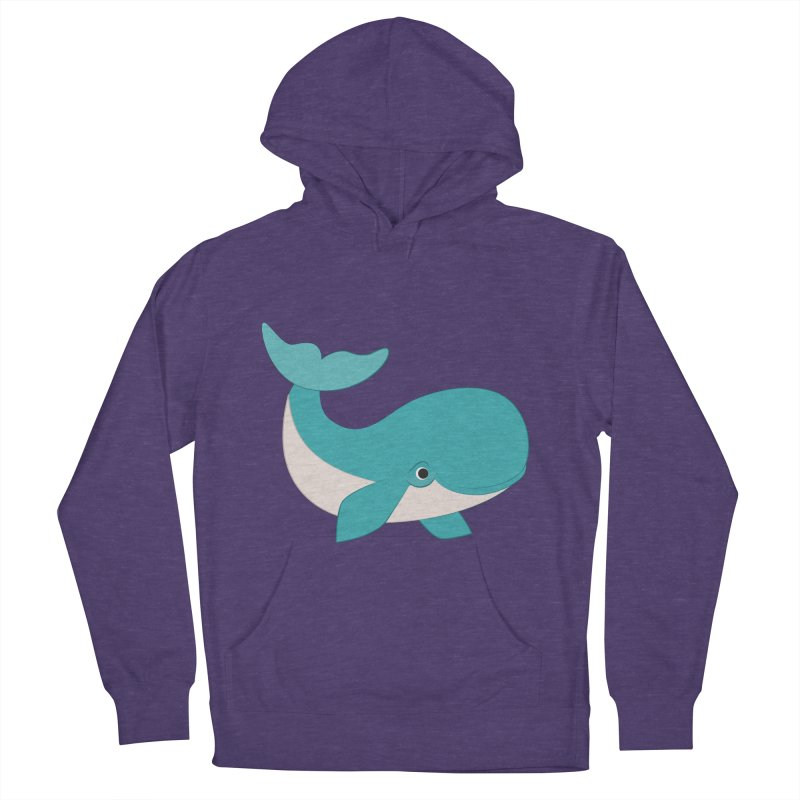 Shock Cousteau's Whale  Men's French Terry Pullover Hoody by Runderella's Artist Shop