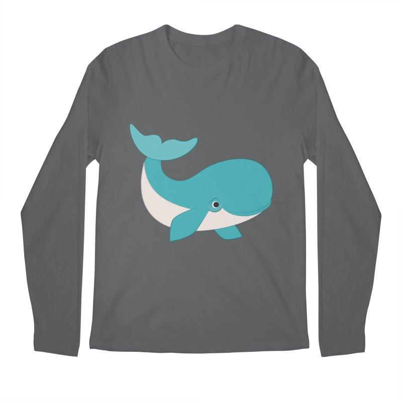 Shock Cousteau's Whale  Men's Regular Longsleeve T-Shirt by Runderella's Artist Shop