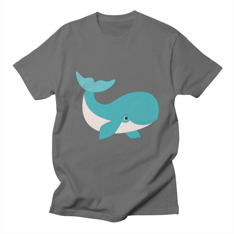 Shock Cousteau's Whale  Men's T-Shirt by Runderella's Artist Shop