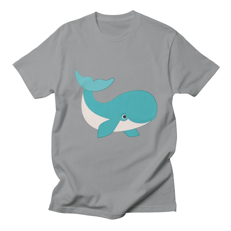 Shock Cousteau's Whale  Men's Regular T-Shirt by Runderella's Artist Shop