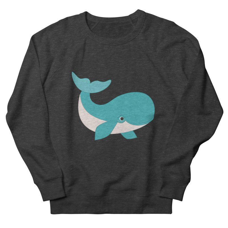 Shock Cousteau's Whale  Women's French Terry Sweatshirt by Runderella's Artist Shop