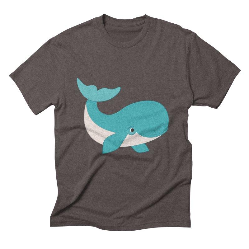 Shock Cousteau's Whale  Men's Triblend T-Shirt by Runderella's Artist Shop