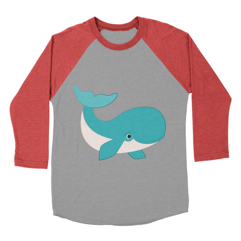 Shock Cousteau's Whale  Women's Baseball Triblend Longsleeve T-Shirt by Runderella's Artist Shop