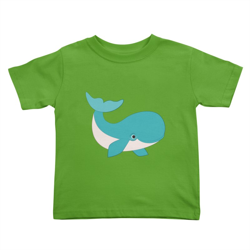 Shock Cousteau's Whale  Kids Toddler T-Shirt by Runderella's Artist Shop