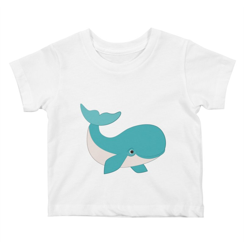 Shock Cousteau's Whale  Kids Baby T-Shirt by Runderella's Artist Shop
