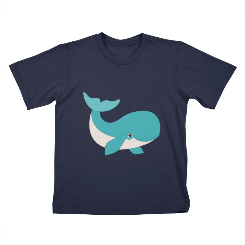 Shock Cousteau's Whale  Kids T-Shirt by Runderella's Artist Shop