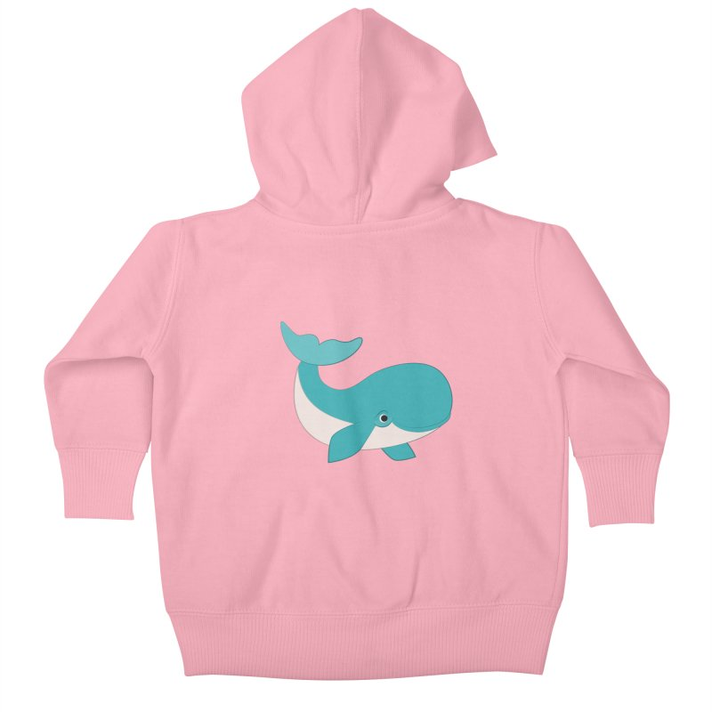 Shock Cousteau's Whale  Kids Baby Zip-Up Hoody by Runderella's Artist Shop
