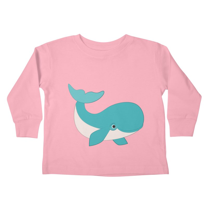 Shock Cousteau's Whale  Kids Toddler Longsleeve T-Shirt by Runderella's Artist Shop