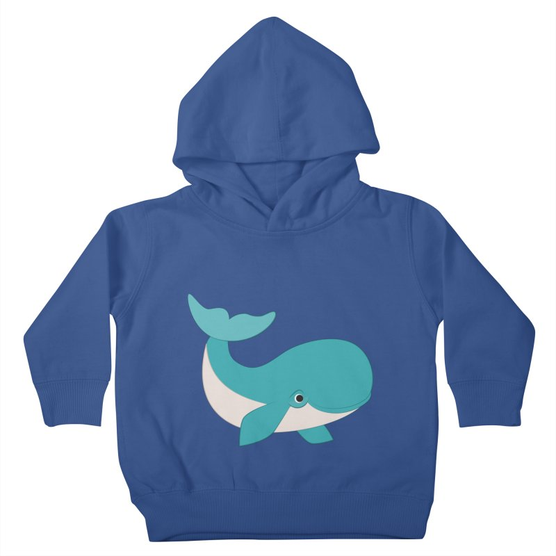 Shock Cousteau's Whale  Kids Toddler Pullover Hoody by Runderella's Artist Shop