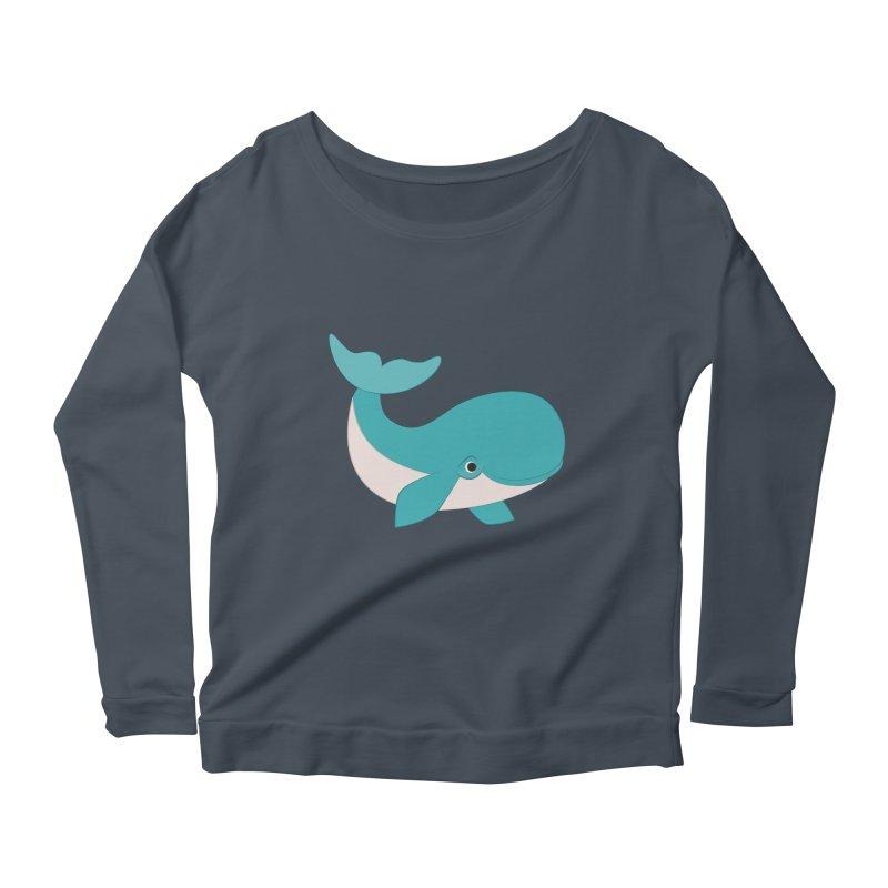 Shock Cousteau's Whale  Women's Scoop Neck Longsleeve T-Shirt by Runderella's Artist Shop