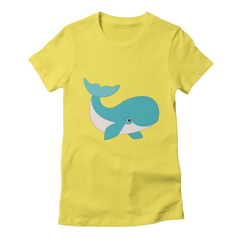 Shock Cousteau's Whale  Women's Fitted T-Shirt by Runderella's Artist Shop