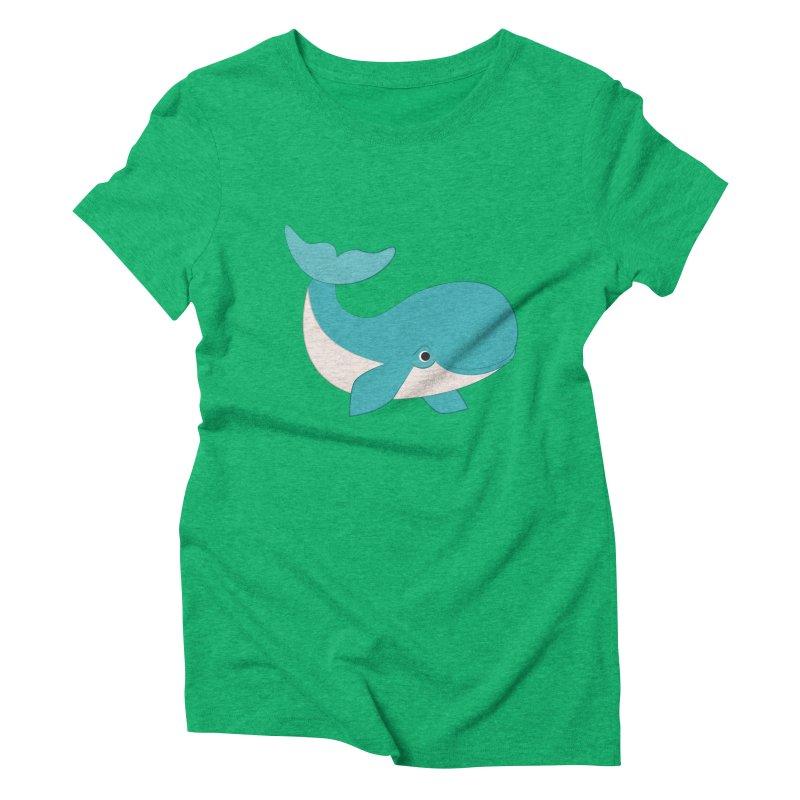Shock Cousteau's Whale  Women's Triblend T-Shirt by Runderella's Artist Shop