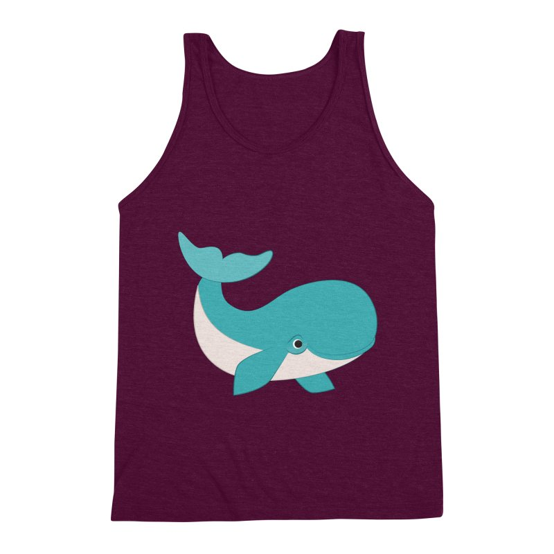 Shock Cousteau's Whale  Men's Triblend Tank by Runderella's Artist Shop