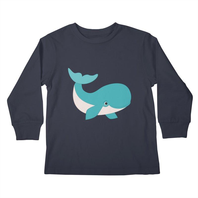 Shock Cousteau's Whale  Kids Longsleeve T-Shirt by Runderella's Artist Shop