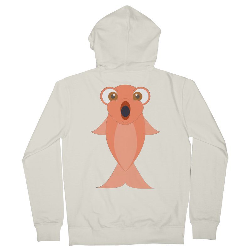 Shock Cousteau's Koi Women's French Terry Zip-Up Hoody by Runderella's Artist Shop