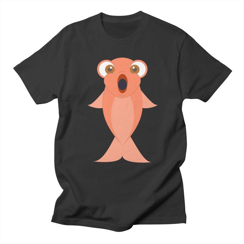 Shock Cousteau's Koi Men's Regular T-Shirt by Runderella's Artist Shop