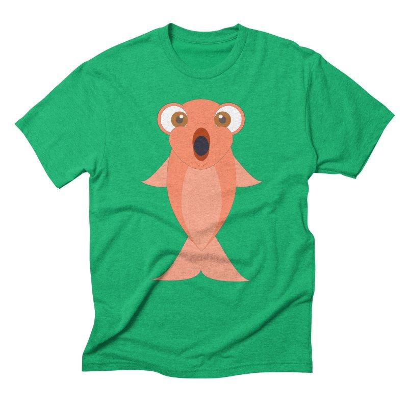 Shock Cousteau's Koi Men's Triblend T-Shirt by Runderella's Artist Shop