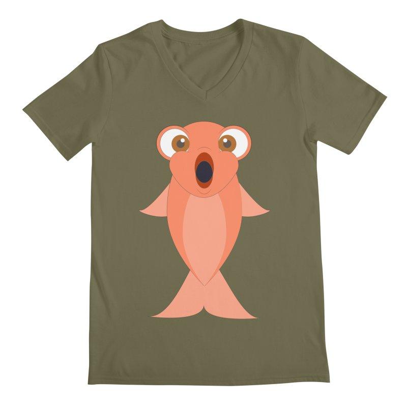 Shock Cousteau's Koi Men's Regular V-Neck by Runderella's Artist Shop