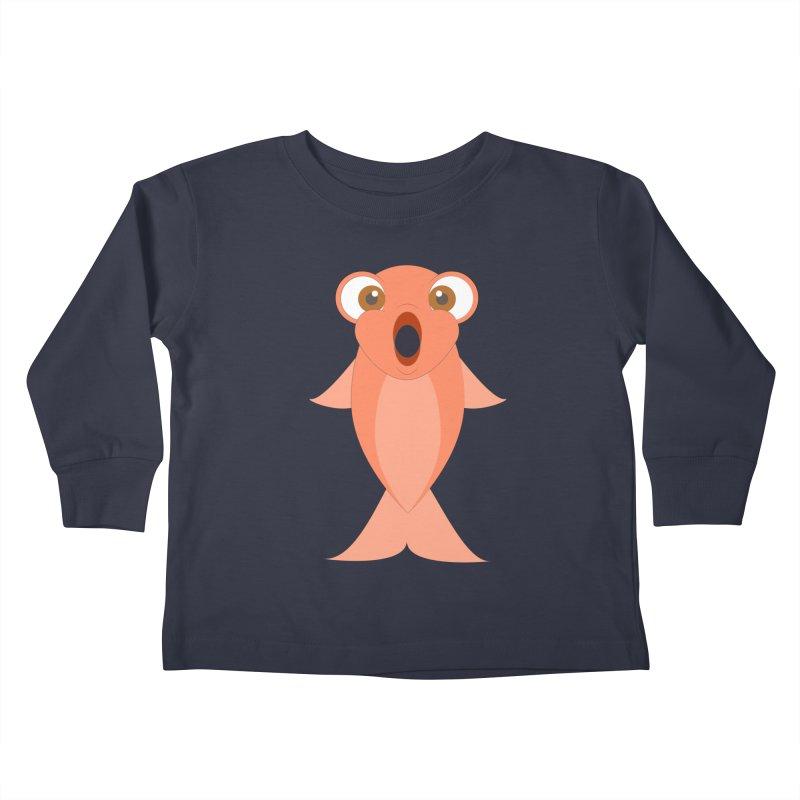 Shock Cousteau's Koi Kids Toddler Longsleeve T-Shirt by Runderella's Artist Shop