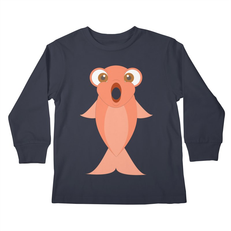Shock Cousteau's Koi Kids Longsleeve T-Shirt by Runderella's Artist Shop
