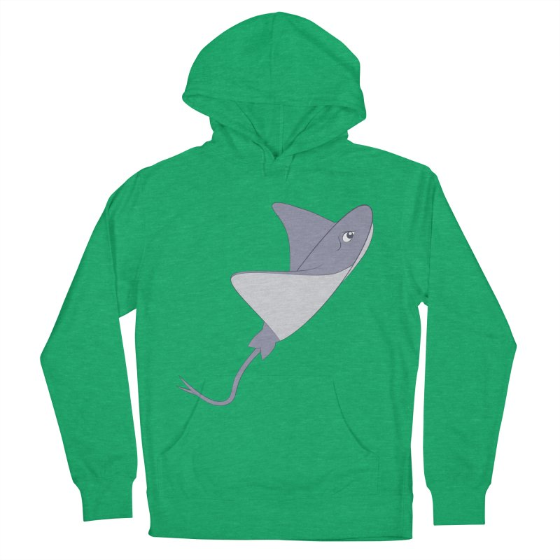 Shock Cousteau's Stingray Women's French Terry Pullover Hoody by Runderella's Artist Shop