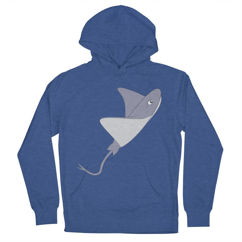 Shock Cousteau's Stingray Men's French Terry Pullover Hoody by Runderella's Artist Shop