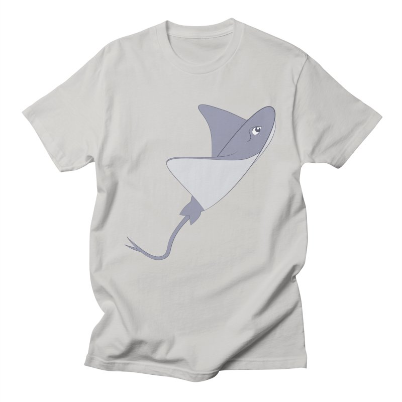 Shock Cousteau's Stingray Men's Regular T-Shirt by Runderella's Artist Shop