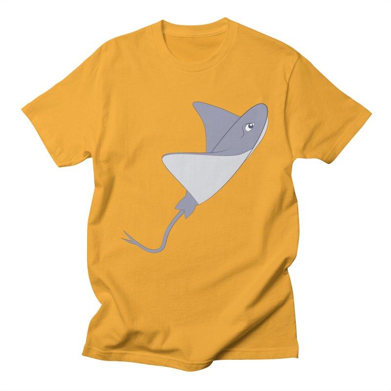 Shock Cousteau's Stingray Men's Regular T-Shirt by Runderella's Artist Shop