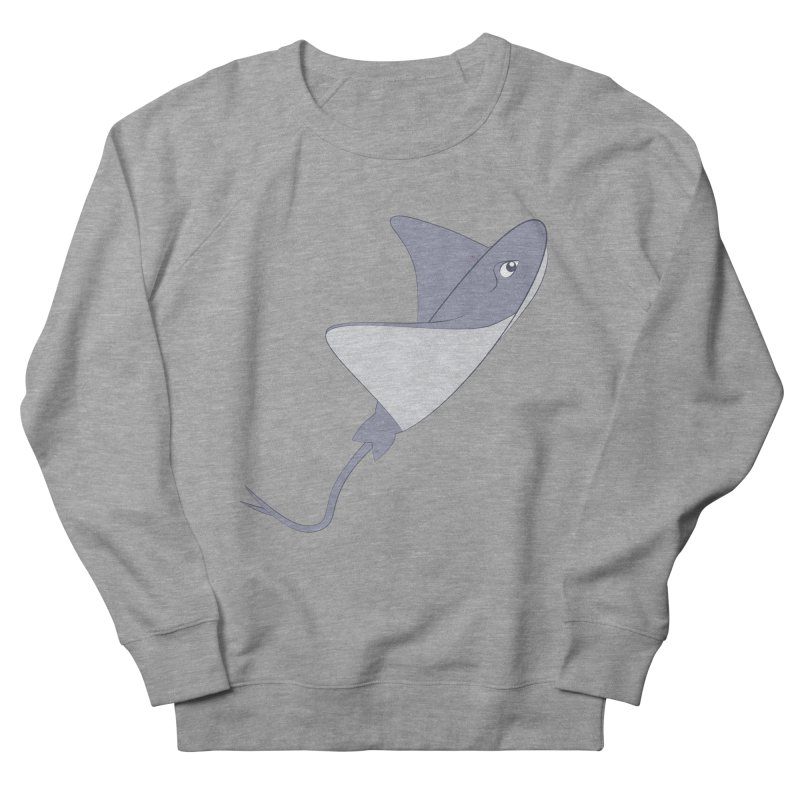 Shock Cousteau's Stingray Women's French Terry Sweatshirt by Runderella's Artist Shop