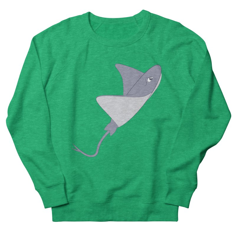 Shock Cousteau's Stingray Men's French Terry Sweatshirt by Runderella's Artist Shop