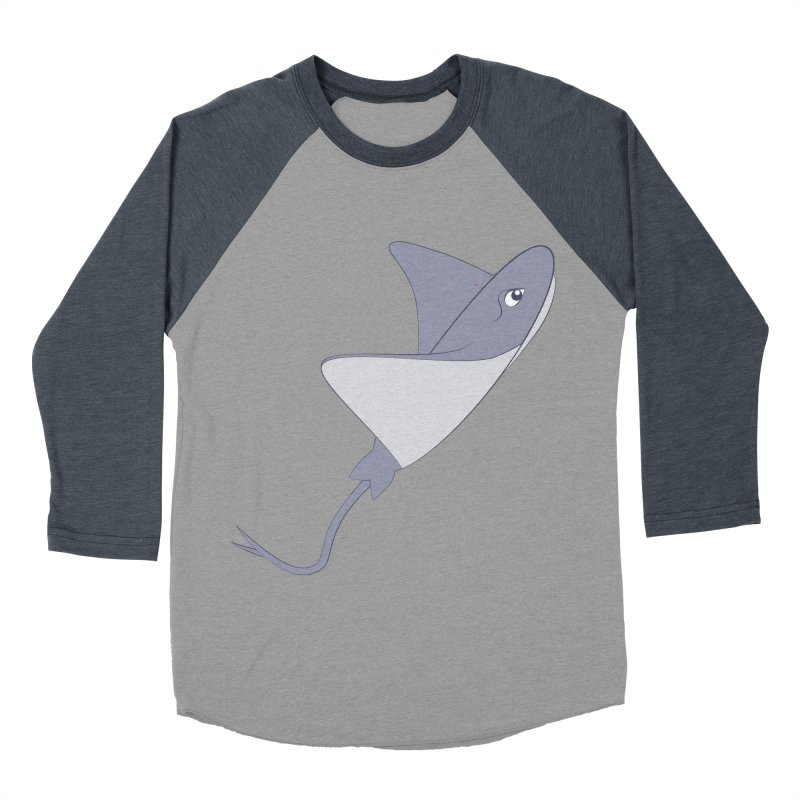 Shock Cousteau's Stingray Women's Baseball Triblend Longsleeve T-Shirt by Runderella's Artist Shop