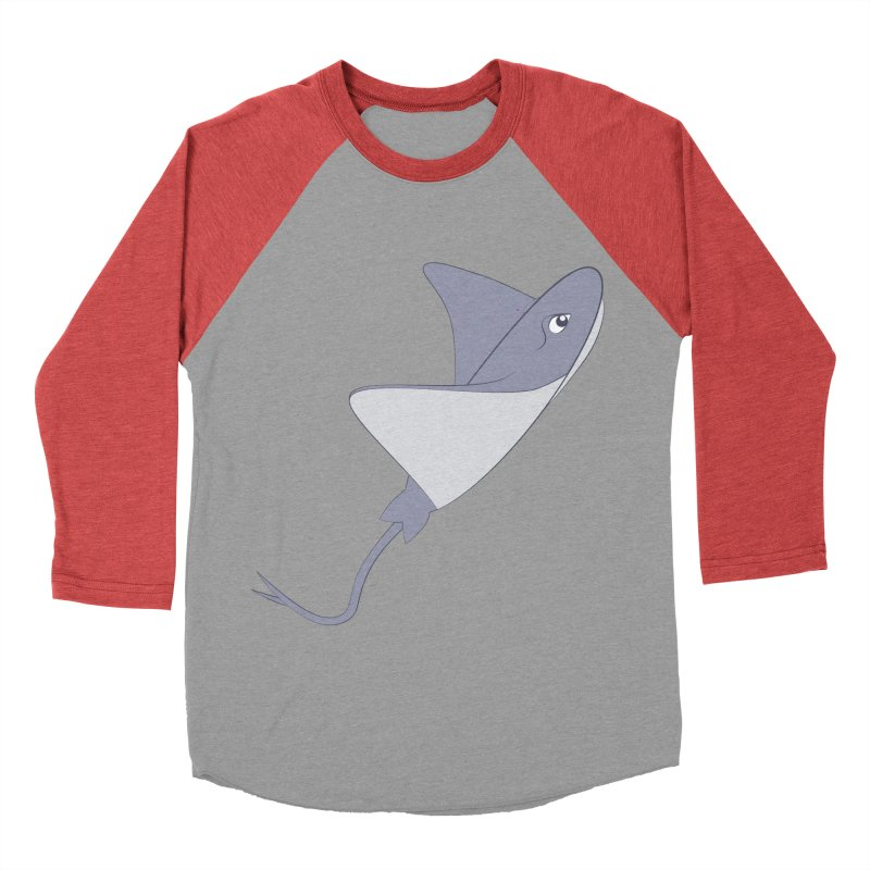 Shock Cousteau's Stingray Men's Baseball Triblend Longsleeve T-Shirt by Runderella's Artist Shop