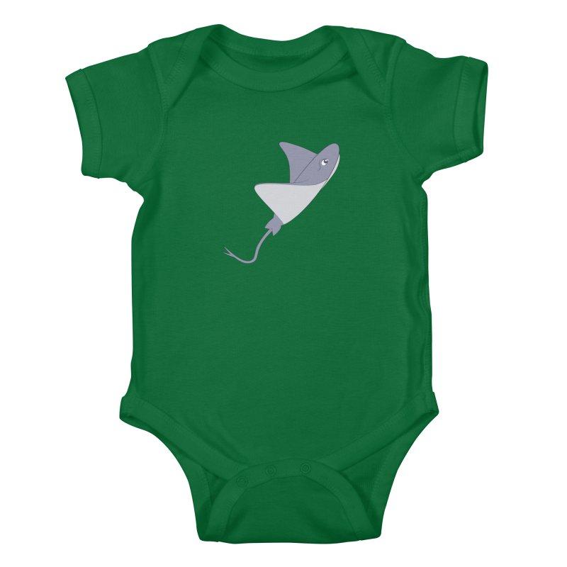 Shock Cousteau's Stingray Kids Baby Bodysuit by Runderella's Artist Shop
