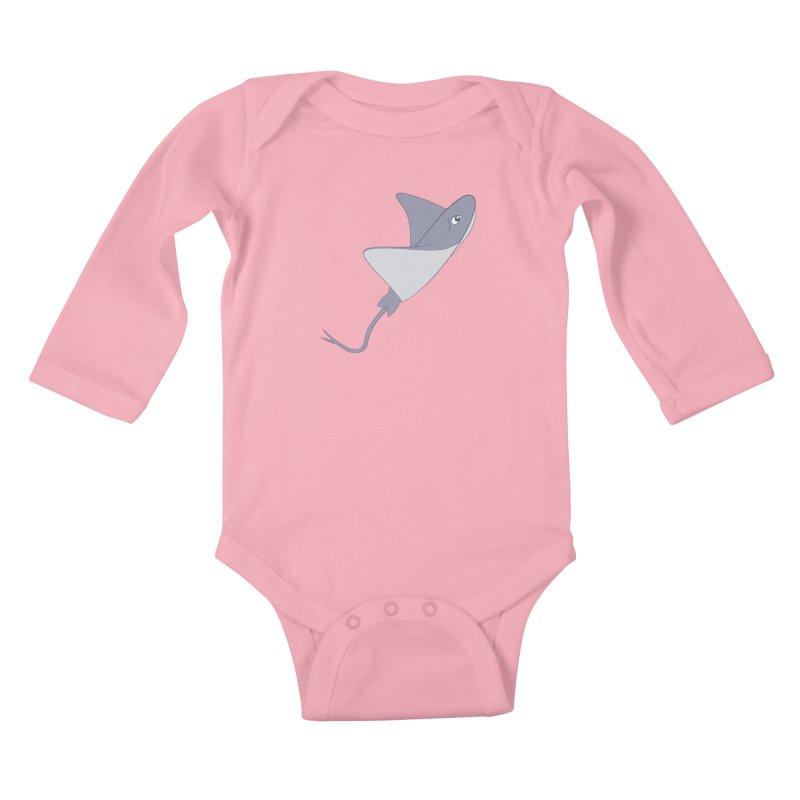 Shock Cousteau's Stingray Kids Baby Longsleeve Bodysuit by Runderella's Artist Shop