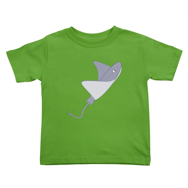 Shock Cousteau's Stingray Kids Toddler T-Shirt by Runderella's Artist Shop
