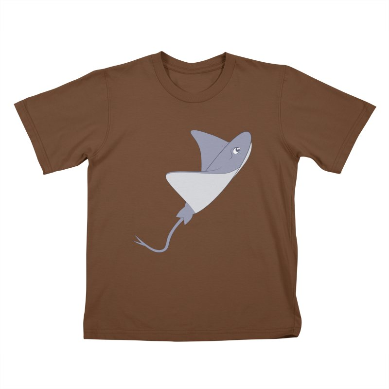 Shock Cousteau's Stingray Kids T-Shirt by Runderella's Artist Shop