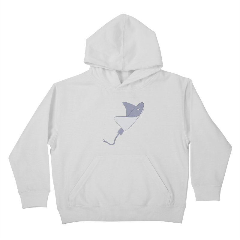 Shock Cousteau's Stingray Kids Pullover Hoody by Runderella's Artist Shop