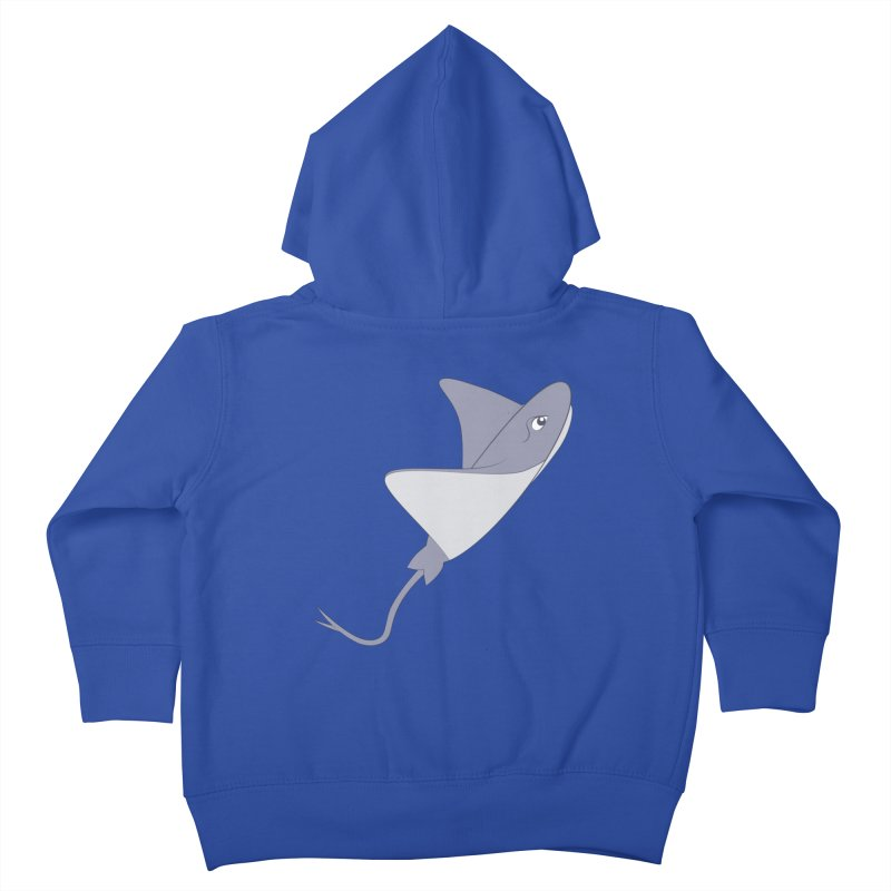 Shock Cousteau's Stingray Kids Toddler Zip-Up Hoody by Runderella's Artist Shop