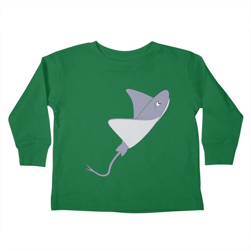 Shock Cousteau's Stingray Kids Toddler Longsleeve T-Shirt by Runderella's Artist Shop