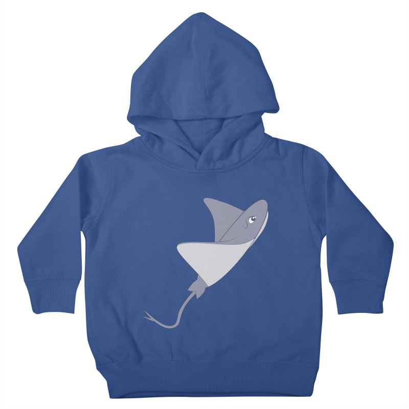 Shock Cousteau's Stingray Kids Toddler Pullover Hoody by Runderella's Artist Shop