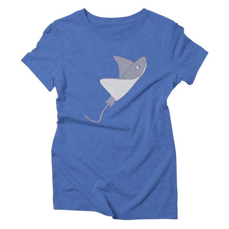 Shock Cousteau's Stingray Women's Triblend T-Shirt by Runderella's Artist Shop
