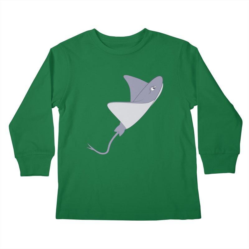 Shock Cousteau's Stingray Kids Longsleeve T-Shirt by Runderella's Artist Shop
