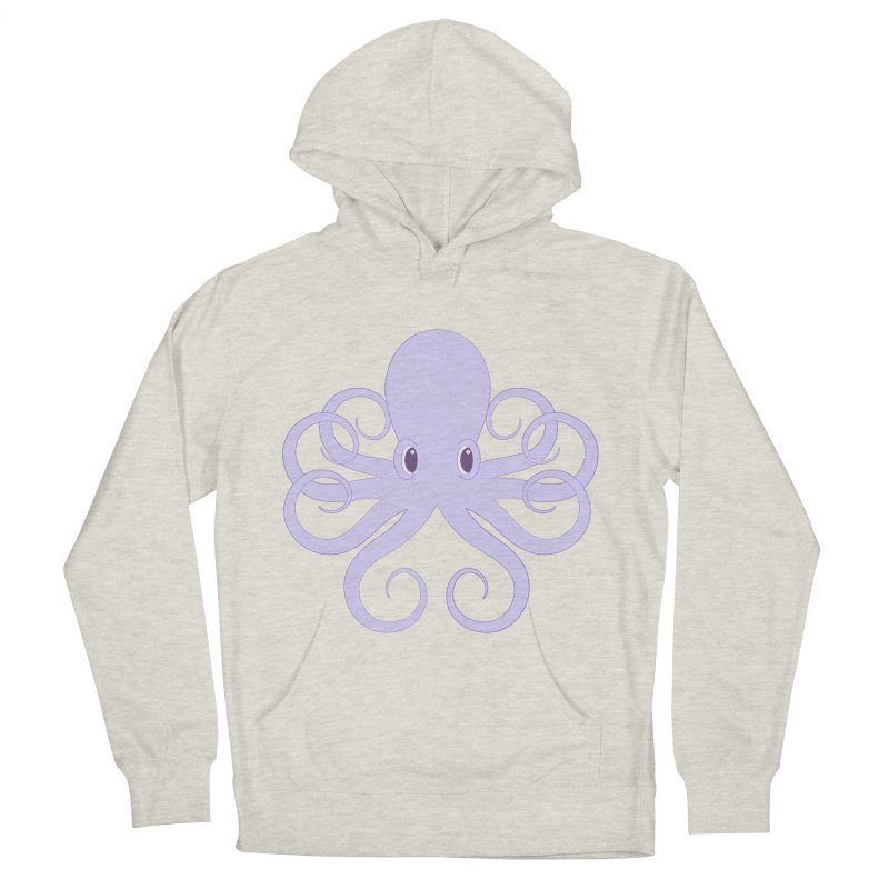Shock Cousteau's Octopus Men's French Terry Pullover Hoody by Runderella's Artist Shop