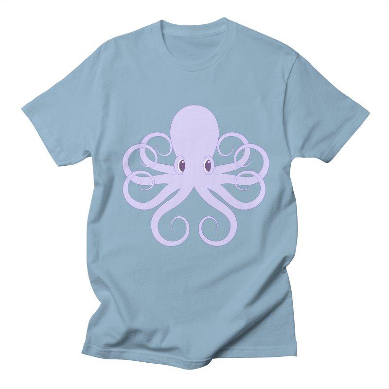 Shock Cousteau's Octopus Men's Regular T-Shirt by Runderella's Artist Shop