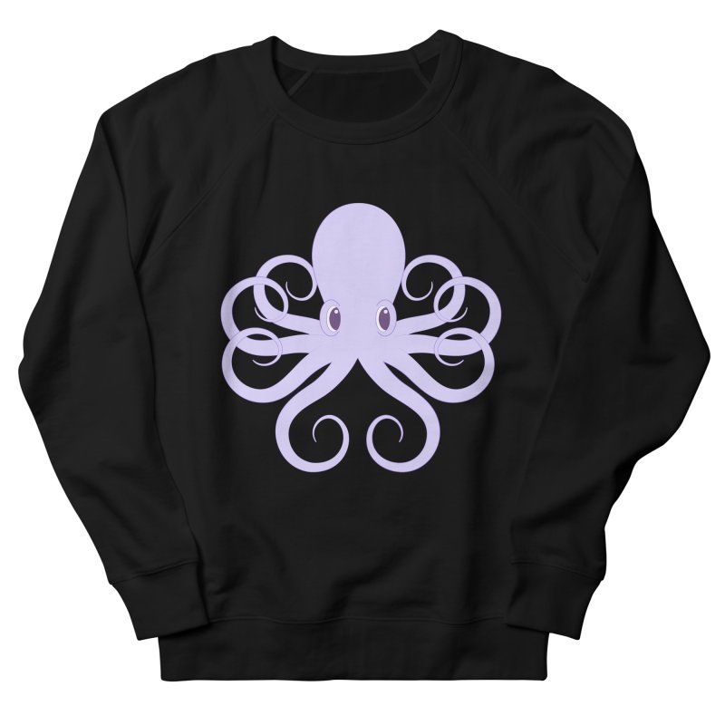 Shock Cousteau's Octopus Women's French Terry Sweatshirt by Runderella's Artist Shop